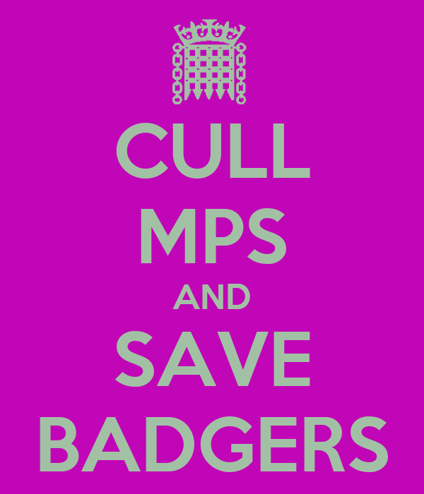 CULL MPS AND SAVE BADGERS