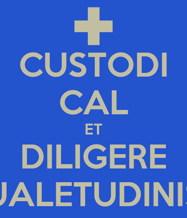 CUSTODI CAL ET DILIGERE UALETUDINIS