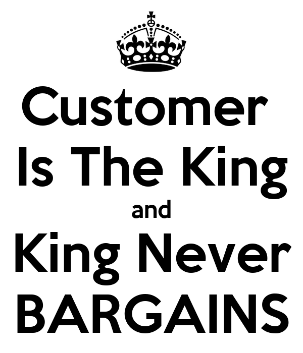 is the customer really king essay Brief intro about who martin luther king jr was for the american people and what he we can write a custom essay on  martin luther king jr 98% customer.