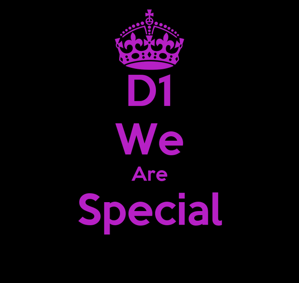 D1 We Are Special