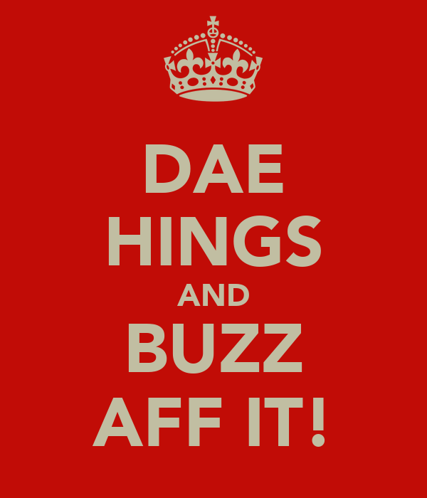 DAE HINGS AND BUZZ AFF IT!