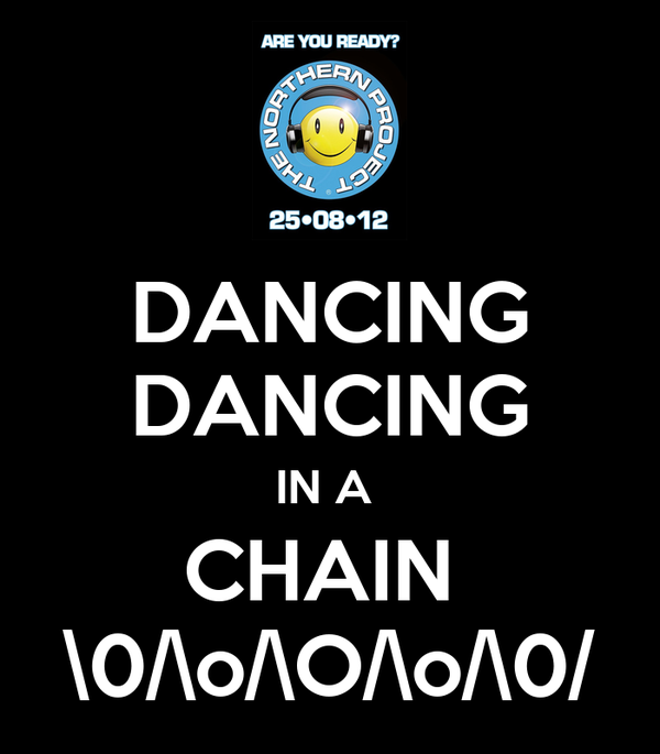 DANCING DANCING IN A  CHAIN  \0/\o/\O/\o/\0/