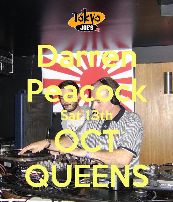 Darren Peacock Sat 13th OCT QUEENS