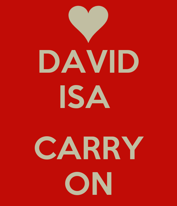 DAVID ISA   CARRY ON