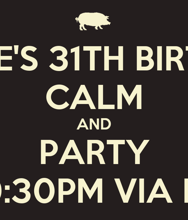 DAVIDE'S 31TH BIRTHDAY CALM AND PARTY ONDAVIDE'S 31TH BIRTHDAY / SEPTEMBER 24TH/AT9:30PM VIA ROSSINI / ZONA BORROMEO /BE THERE OR   ASSUME