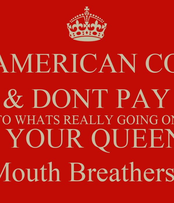 DEAR AMERICAN COLONY, KEEP CALM & DONT PAY ATTENTION TO WHATS REALLY GOING ON - YOUR QUEEN PS- Please watch BBC America, & Hope You Mouth Breathers Enjoyed The Hunger Games, I Mean Olympics