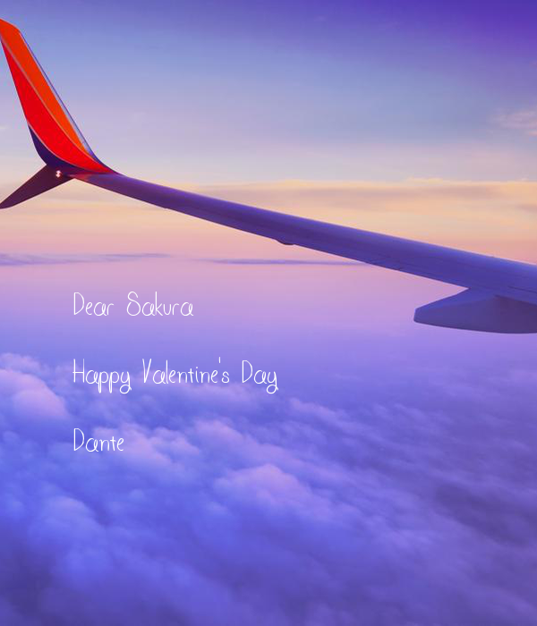 Dear Sakura  Happy Valentine's Day  Dante