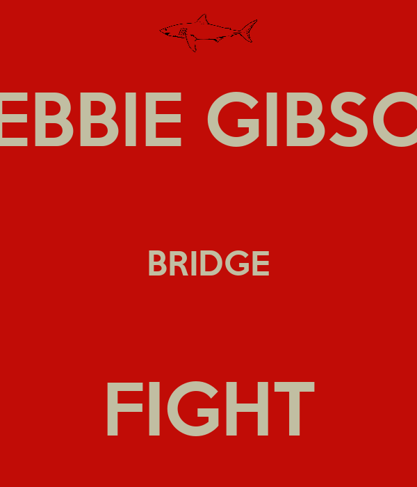 DEBBIE GIBSON   BRIDGE   FIGHT