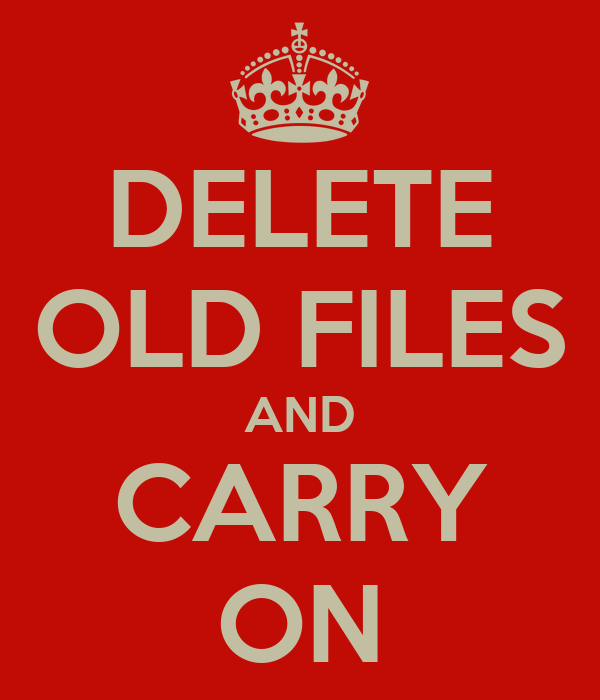 how to delete old os files
