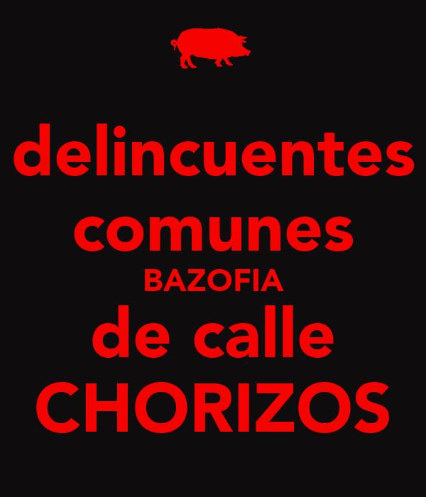 delincuentes comunes BAZOFIA de calle CHORIZOS