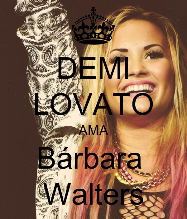DEMI LOVATO AMA Bárbara  Walters