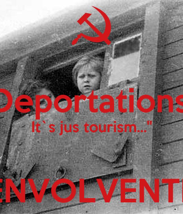 """""""Deportations? It`s jus tourism...""""  ENVOLVENTE"""