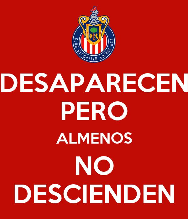 DESAPARECEN PERO ALMENOS NO DESCIENDEN