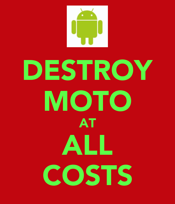 DESTROY MOTO AT ALL COSTS