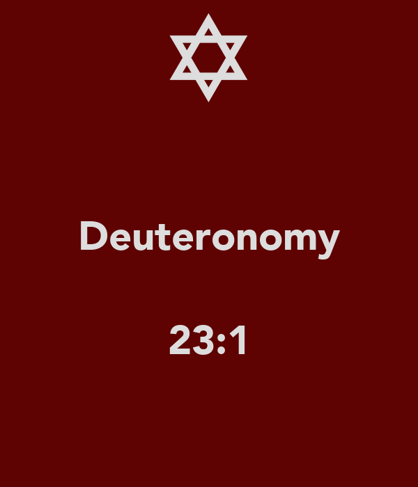 Deuteronomy  23:1