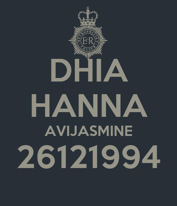DHIA HANNA AVIJASMINE 26121994