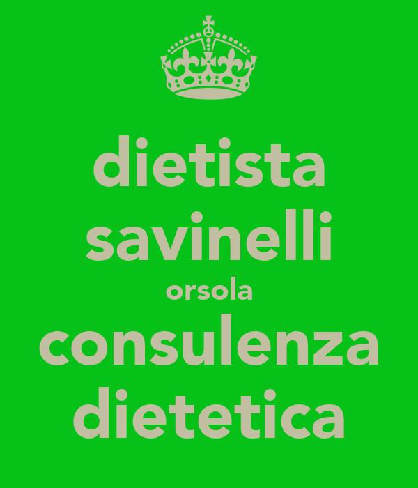 dietista savinelli orsola consulenza dietetica