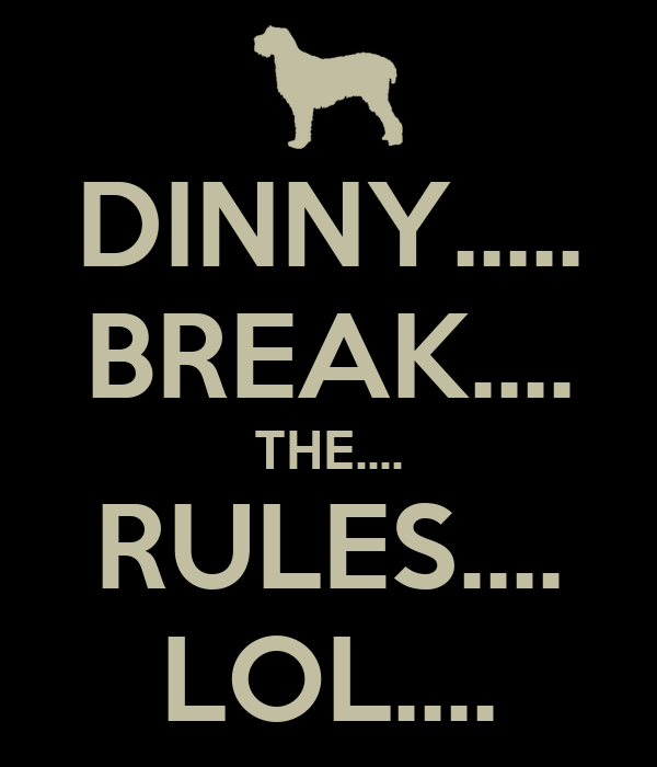 DINNY..... BREAK.... THE.... RULES.... LOL....