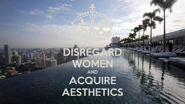DISREGARD WOMEN AND ACQUIRE AESTHETICS