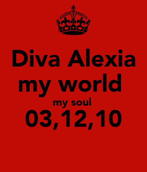 Diva Alexia my world  my soul  03,12,10