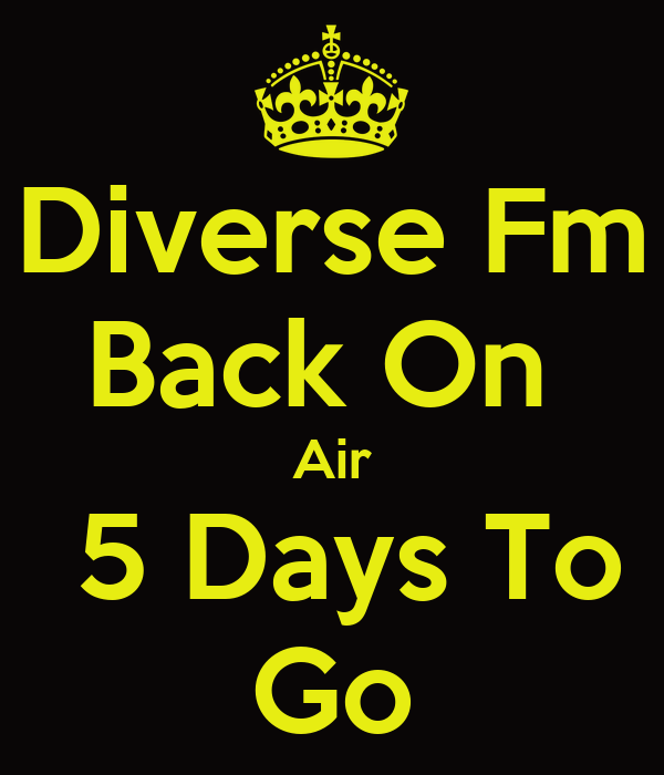 Diverse Fm Back On  Air  5 Days To Go