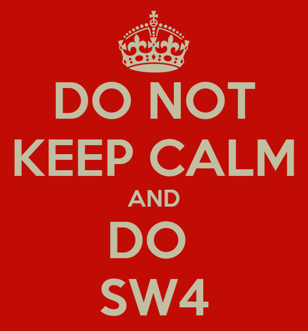 DO NOT KEEP CALM AND DO  SW4