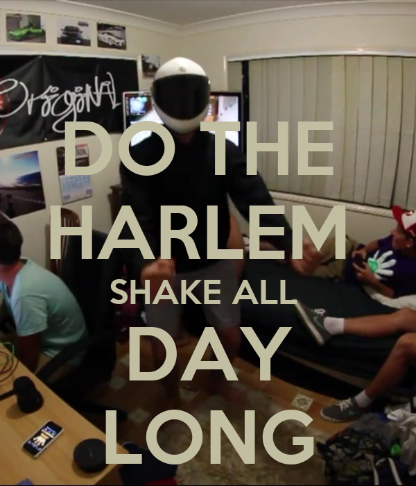 DO THE  HARLEM  SHAKE ALL  DAY LONG