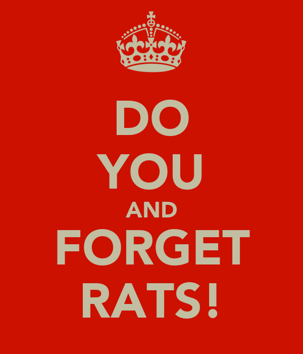 DO YOU AND FORGET RATS!