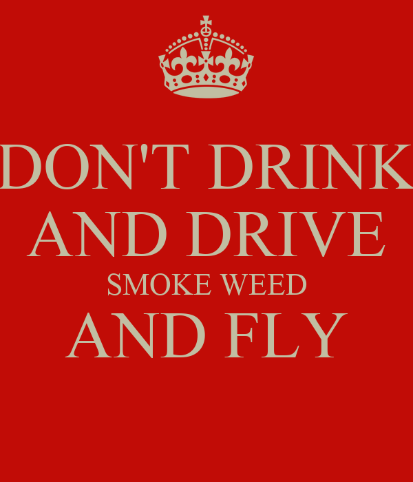 DON'T DRINK AND DRIVE SMOKE WEED AND FLY