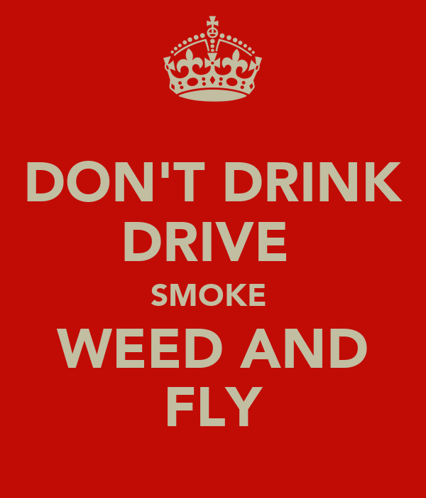 DON'T DRINK DRIVE  SMOKE  WEED AND FLY