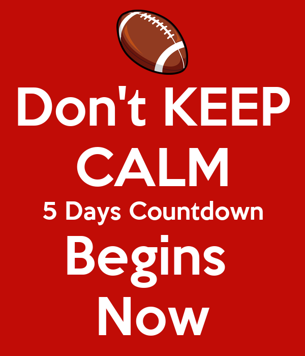 Don't KEEP CALM 5 Days Countdown Begins Now Poster | Jigar ...