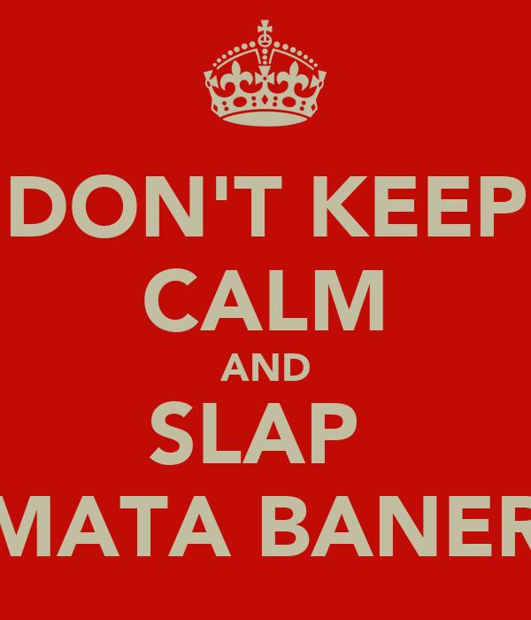 DON'T KEEP CALM AND SLAP  MAMATA BANERJEE