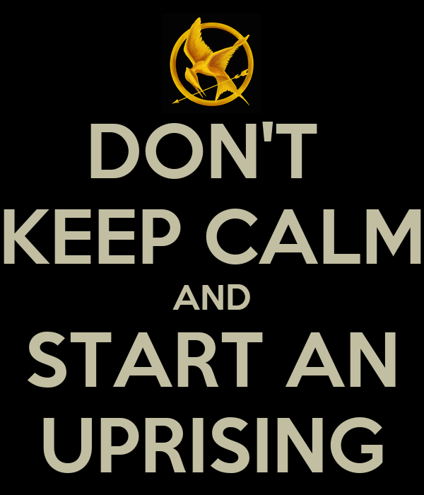 DON'T  KEEP CALM AND START AN UPRISING
