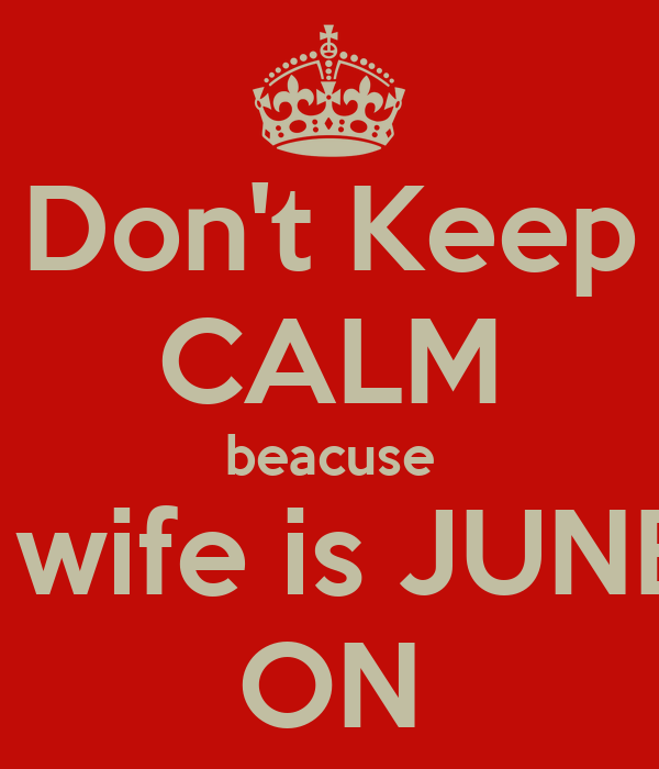 Don't Keep CALM beacuse Niall's wife is JUNELEA   ON