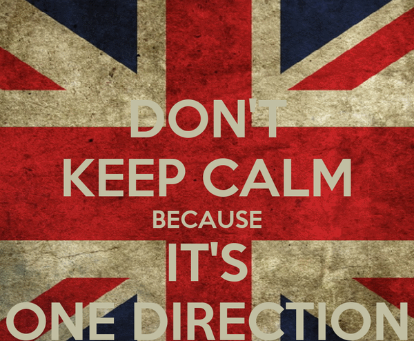DON'T KEEP CALM BECAUSE IT'S ONE DIRECTION