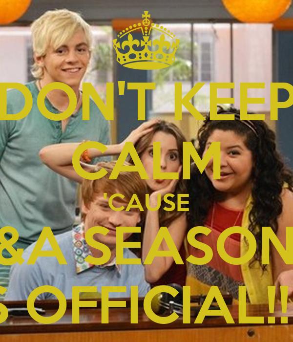 DON'T KEEP CALM 'CAUSE A&A SEASON 4 IS OFFICIAL!!!!!