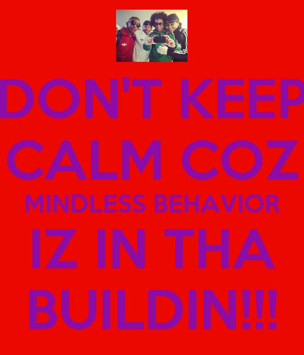 DON'T KEEP CALM COZ MINDLESS BEHAVIOR IZ IN THA BUILDIN!!!