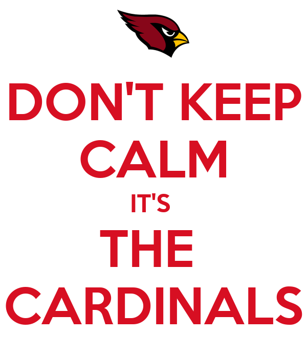 DON'T KEEP CALM IT'S  THE  CARDINALS