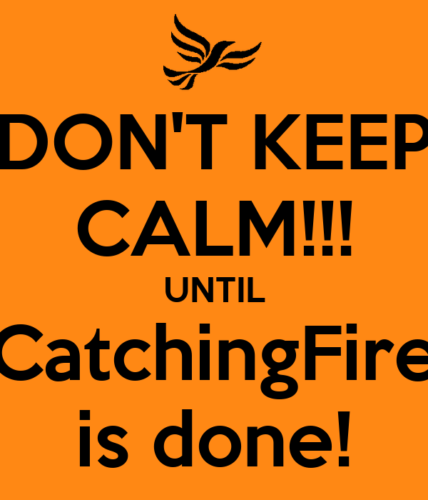 DON'T KEEP CALM!!! UNTIL CatchingFire is done!