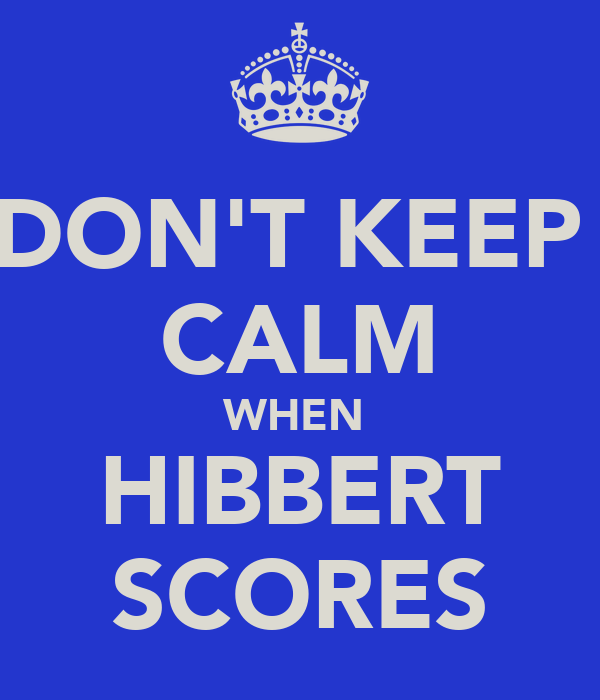 DON'T KEEP  CALM WHEN  HIBBERT SCORES