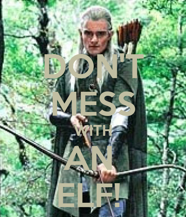 DON'T MESS WITH AN  ELF!