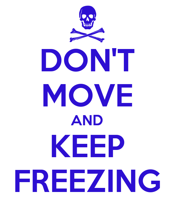 DON'T MOVE AND KEEP FREEZING