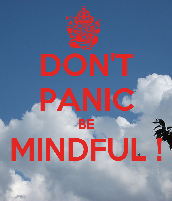 DON'T PANIC BE MINDFUL !