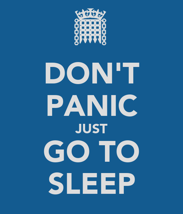 DON'T PANIC JUST GO TO SLEEP