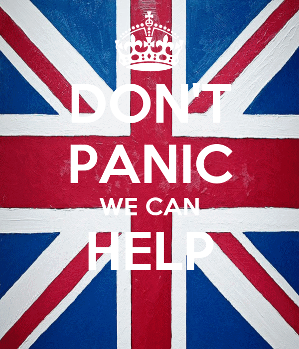 DON'T PANIC WE CAN HELP