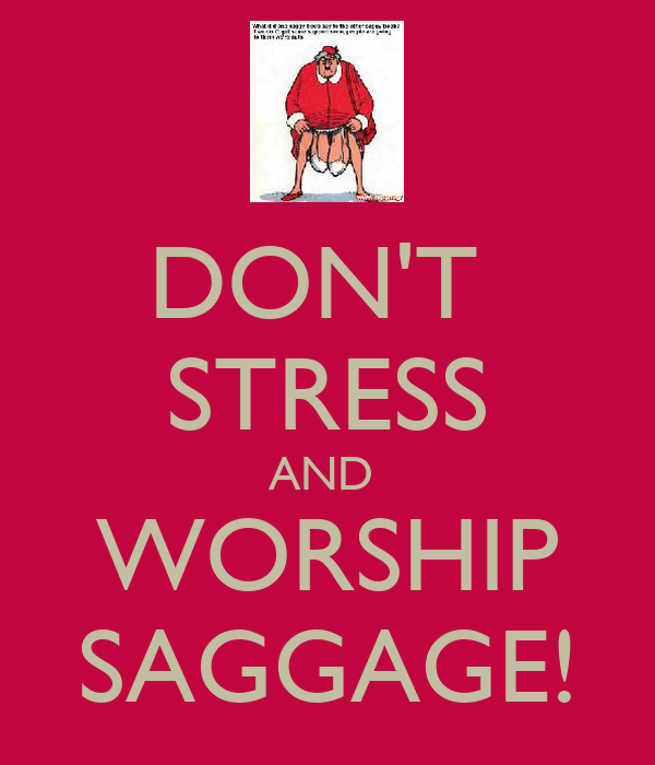 DON'T  STRESS AND  WORSHIP SAGGAGE!