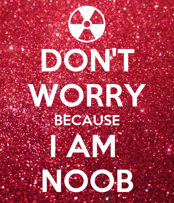 DON'T WORRY BECAUSE I AM NOOB Poster