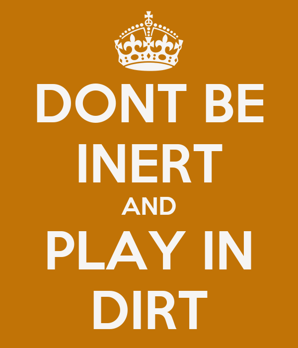 DONT BE INERT AND PLAY IN DIRT