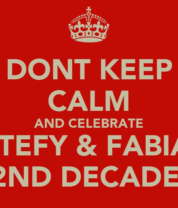DONT KEEP CALM AND CELEBRATE ESTEFY & FABIAN 2ND DECADE