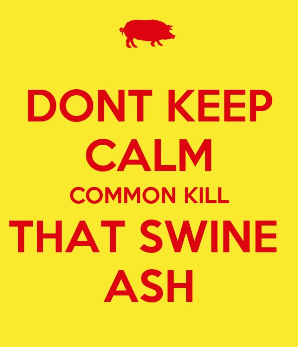 DONT KEEP CALM COMMON KILL THAT SWINE  ASH
